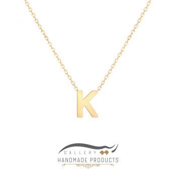 گردنبند طلا حرف k