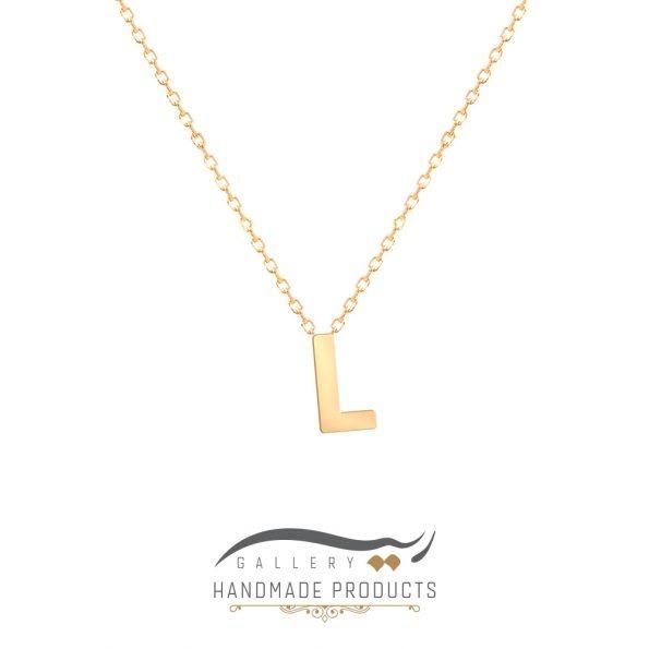 گردنبند طلا حرف L