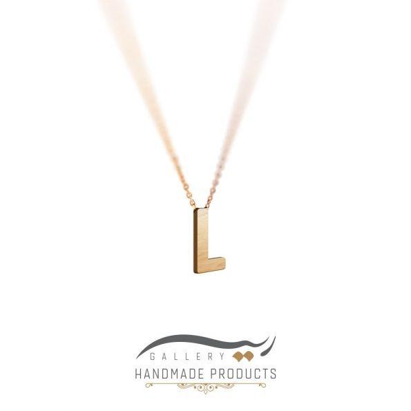 گردنبند طلا حرف L ریسه گالری