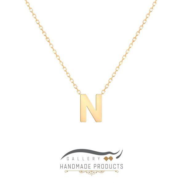 گردنبند طلا حرف n