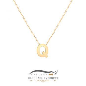 گردنبند طلا حرف q