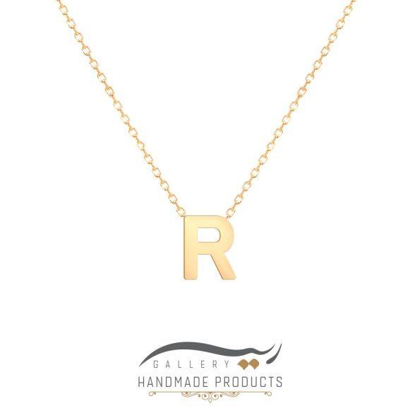 گردنبند طلا حرف r