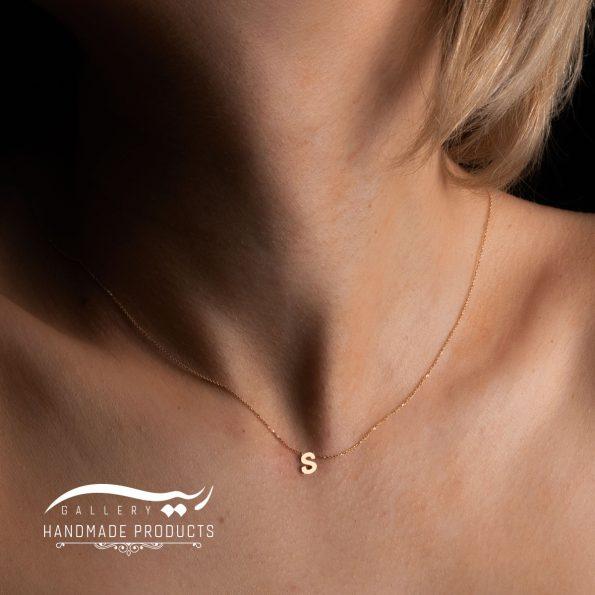 گردنبند طلا حرف s