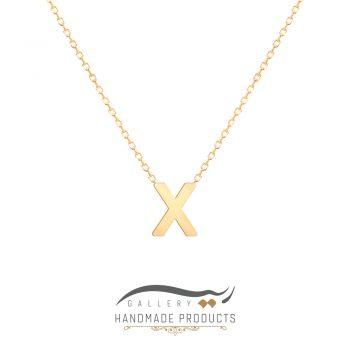 گردنبند طلا حرف x