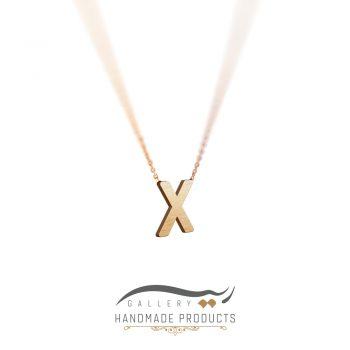 گردنبند طلا حرف x ریسه گالری