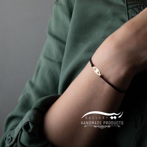 دستبند طلا زنانه چشم فروشگاه اینترنتی ریسه گالری