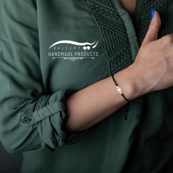 دستبند طلا زنانه چشم فروشگاه ریسه گالری