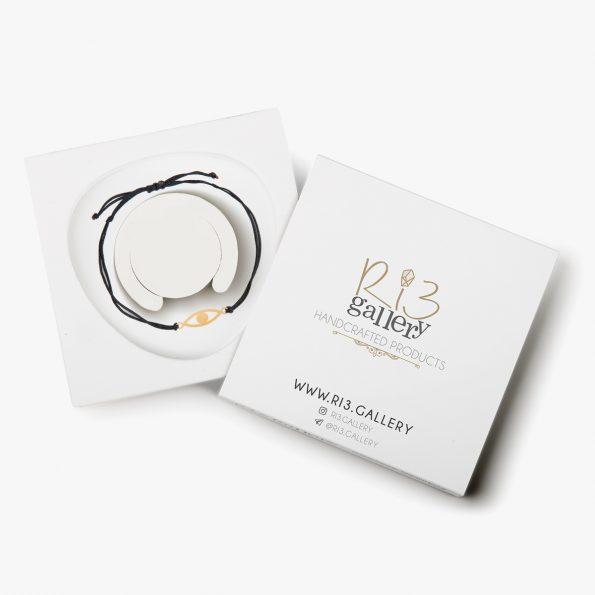 بسته بندی دستبند طلا زنانه چشم