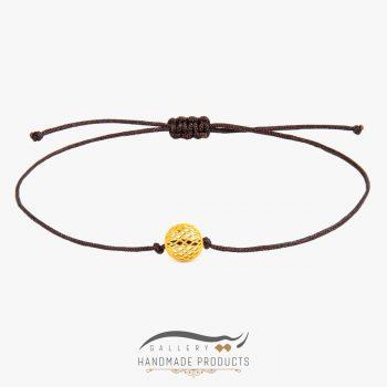 دستبند طلا زنانه فیوژن نخی