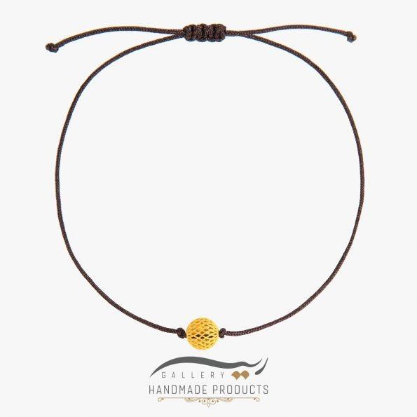 دستبند طلا زنانه فیوژن نخی ریسه گالری