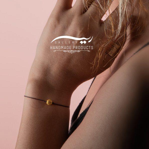 دستبند طلا زنانه فیوژن نخی فروشگاه اینترنتی ریسه گالری