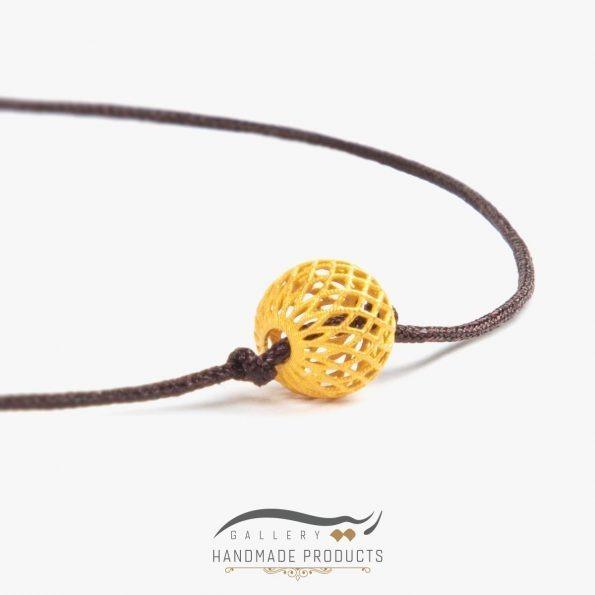 دستبند طلا زنانه فیوژن نخی فروشگاه اینترنتی زیورآلات ریسه گالری