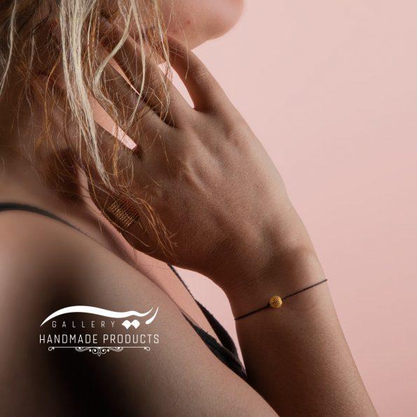 دستبند طلا زنانه فیوژن نخی فروشگاه زیورآلات ریسه گالری