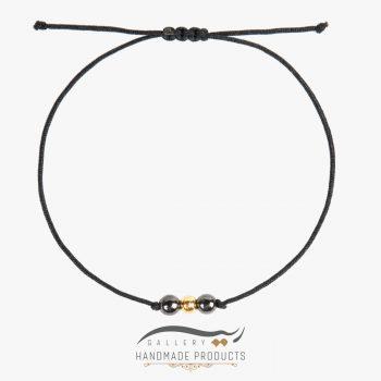 دستبند طلا زنانه گوی نخی ریسه گالری