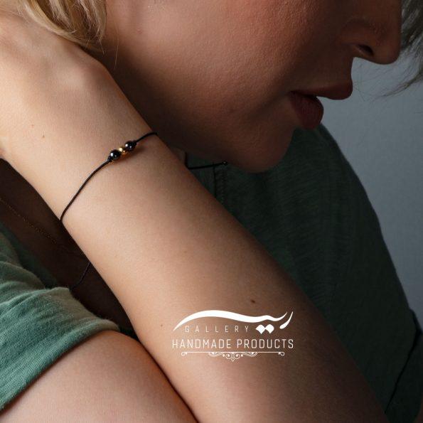 دستبند طلا زنانه گوی نخی فروشگاه اینترنتی ریسه گالری