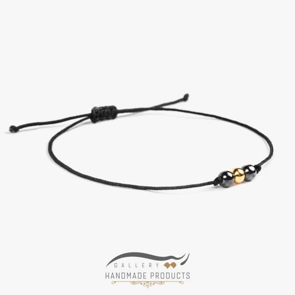 دستبند طلا زنانه گوی نخی فروشگاه اینترنتی زیورآلات ریسه گالری