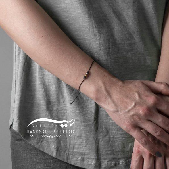 دستبند طلا زنانه گوی نخی فروشگاه اینترنتی زیورآلات دست ساز ریسه گالری