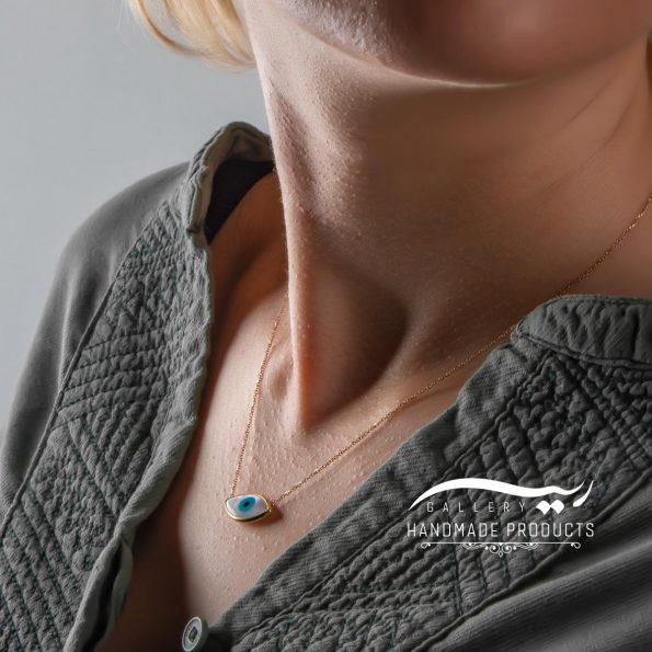گردنبند طلا زنانه چشم فروشگاه اینترنتی زیورآلات دست ساز ریسه گالری