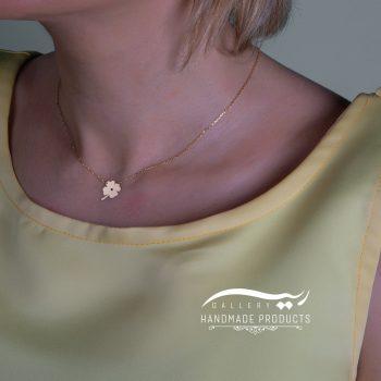 گردنبند طلا زنانه طرح گشنیز فروشگاه زیورآلات دست ساز ریسه گالری