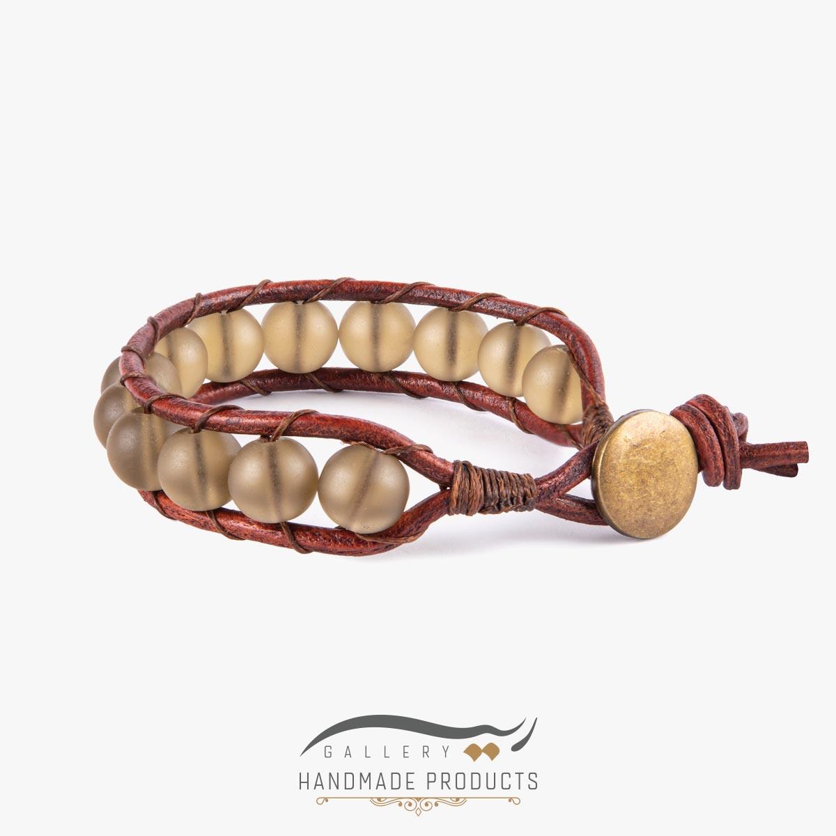 دستبند چرم مردانه هایکا