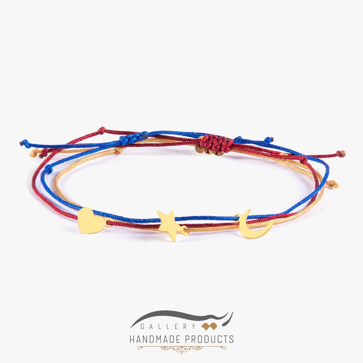 دستبند طلا زنانه تری لاین