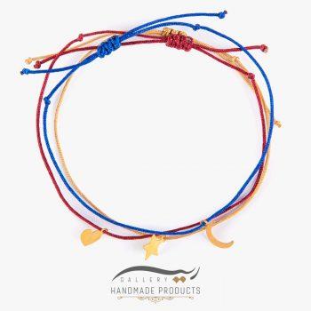 دستبند طلا زنانه تری لاین ریسه گالری