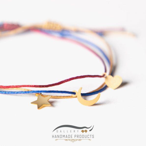 دستبند طلا زنانه تری لاین فروشگاه زیورآلات دست ساز ریسه گالری