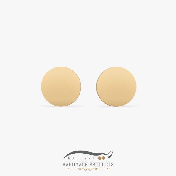 گوشواره طلا زنانه دایره ریسه گالری
