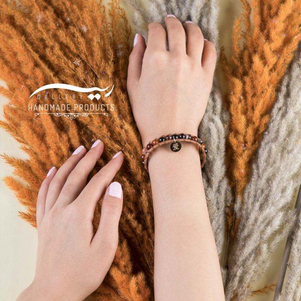 مدل دستبند طلا زنانه چرمی افسانهای