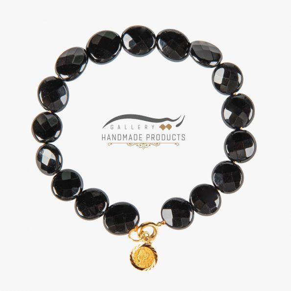 دستبند طلا زنانه ملکه سیاه ریسه گالری