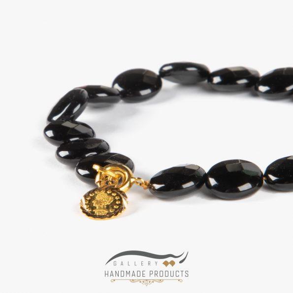 دستبند طلا زنانه ملکه سیاه فروشگاه زیورآلات ریسه گالری