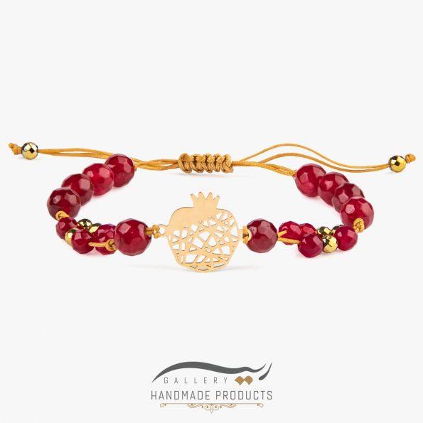 دستبند طلا زنانه انار تی تی