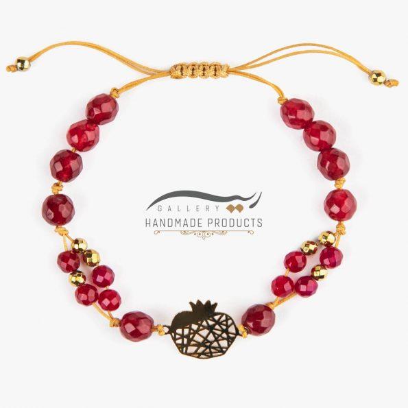 دستبند طلا زنانه انار تی تی ریسه گالری