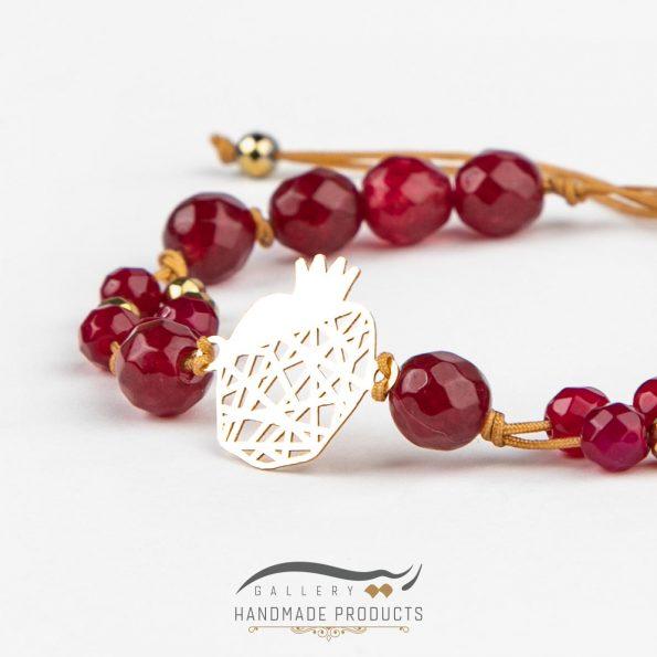 دستبند طلا زنانه انار تی تی زیورآلات ریسه گالری