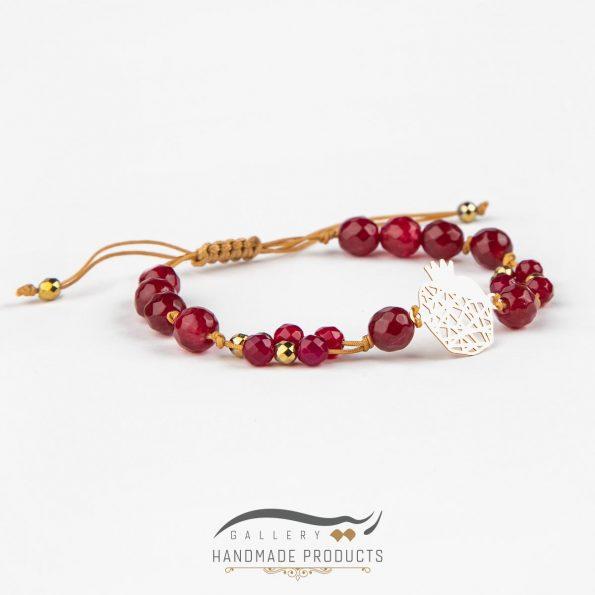 دستبند طلا زنانه انار تی تی زیورآلات دست ساز ریسه گالری