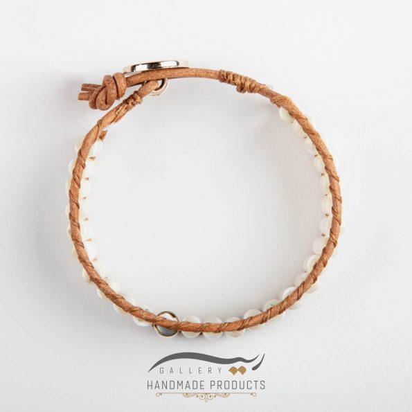 دستبند طلا زنانه چرمی صدفی زیورآلات ریسه گالری