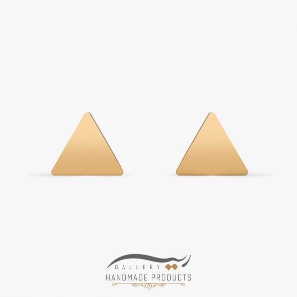 گوشواره طلا زنانه مثلث زیورآلات دست ساز ریسه گالری