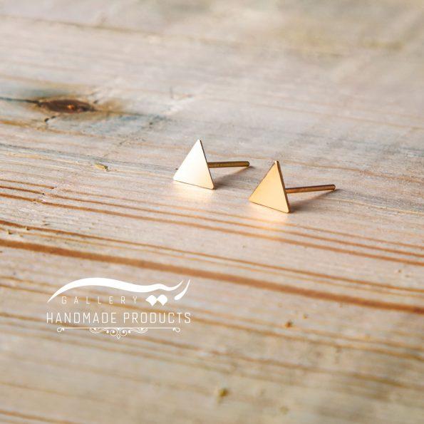 گوشواره طلا زنانه مثلث فروشگاه اینترنتی ریسه گالری