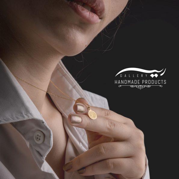 گردنبند طلا زنانه احمد شاه قاجار فروشگاه زیورآلات دست ساز ریسه گالری