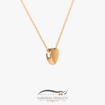 گردنبند طلا زنانه قلب ریسه گالری