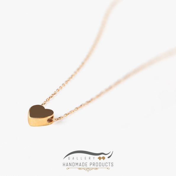 گردنبند طلا زنانه قلب فروشگاه اینترنتی ریسه گالری