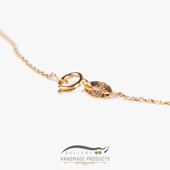 گردنبند طلا زنانه قلب فروشگاه اینترنتی زیورآلات دست ساز ریسه گالری