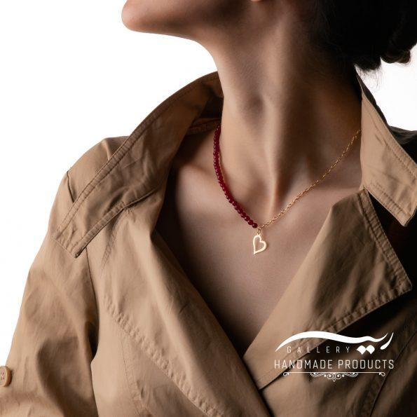گردنبند طلا زنانه رومنس زیورآلات ریسه گالری