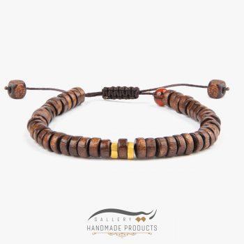 دستبند طلا مردانه چوبین
