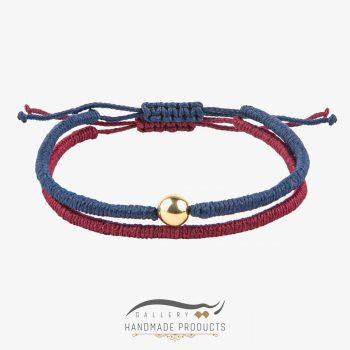 دستبند طلا مردانه بافت