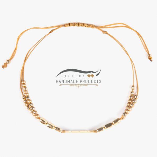 عکس دستبند طلا زنانه طرح سنگ مکعبی