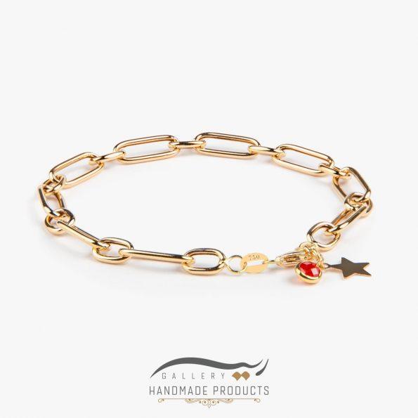 دستبند طلا زنانه هرمس