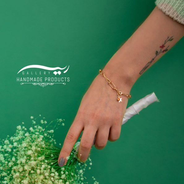 دستبند طلا زنانه هرمس ریسه گالری
