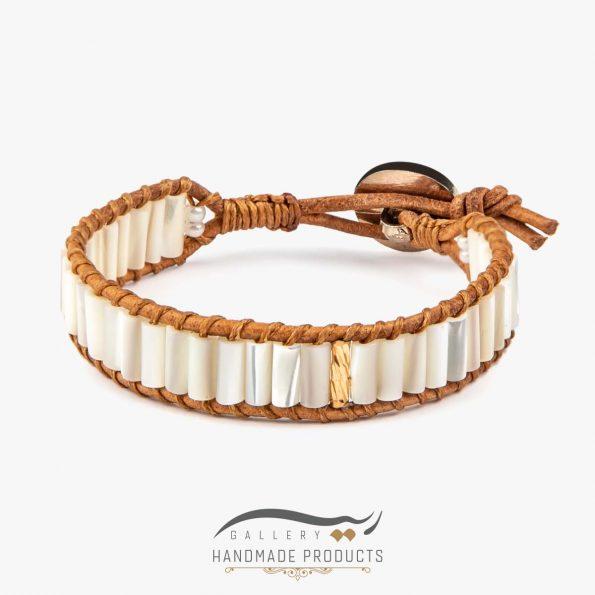 دستبند طلا زنانه چرمی جاسمین