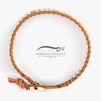 دستبند طلا زنانه چرمی جاسمین ریسه گالری